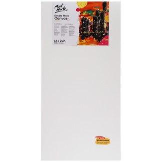 "Mont Marte Studio Canvas Double Thick 12"" x 24"" - 30.5 x 60.9cm"