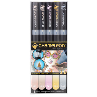 Chameleon Colour Tone Marker Set 5pc - Pastel Tones