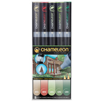 Chameleon Colour Tone Marker Set 5pc - Nature Tones