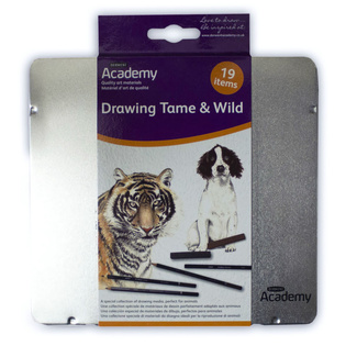 Derwent Academy Drawing Collection Tin - Tame And Wild