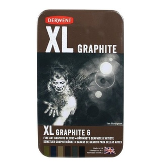 Derwent XL Graphite Block Set - Tin Of 6