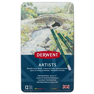 Derwent Artist Colouring Pencil Tin Of 12