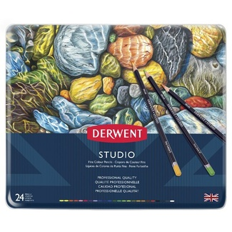 Derwent Studio Colouring Pencil Tin Of 24