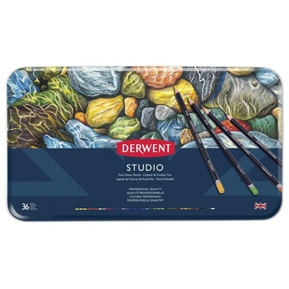 Derwent Studio Colouring Pencil Tin Of 36