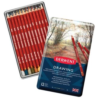 Derwent Drawing Pencils Tin Of 12