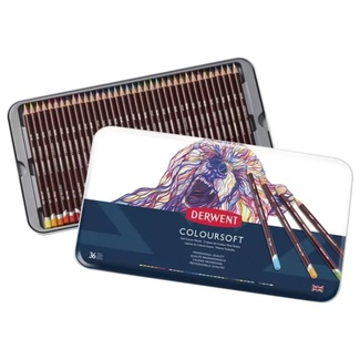 Derwent Coloursoft Colouring Pencil Tin Of 36