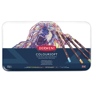 Derwent Coloursoft Colouring Pencil Tin Of 72