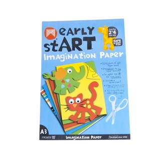 Micador Early Start Imagination Paper Pad - 5 x Colours A3