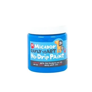 Micador Early Start No Drip Brush or Finger Paint 250ml Safe For Little Kids - Blue Heaven