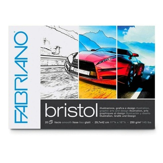 Fabriano Bristol Paper Pad A3 250gsm 20 Sheets