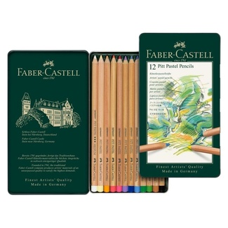Faber Castell Pitt Pastel Pencil Tin Of 12