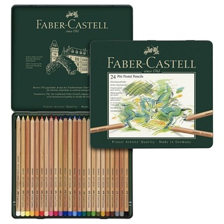 Faber Castell Pitt Pastel Pencil Tin Of 24