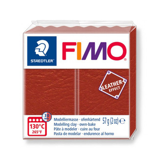 Fimo Leather Effect Polymer Clay  - Rust No 749