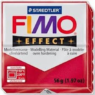 Fimo Effect Polymer Clay  - Metallic Ruby Red No 28