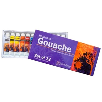 Richeson Student Gouache Set 12 x 12ml Tubes