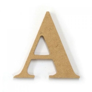 Kaisercraft Large Wooden Letter - A  (Approx 9 x 10cm)