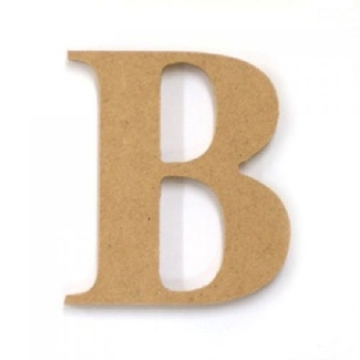 Kaisercraft Large Wooden Letter - B  (Approx 9 x 10cm)