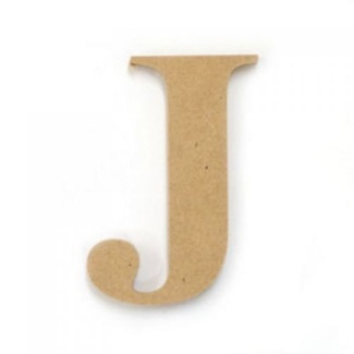 Kaisercraft Large Wooden Letter - J  (Approx 9 x 10cm)