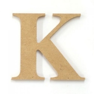 Kaisercraft Large Wooden Letter - K  (Approx 9 x 10cm)