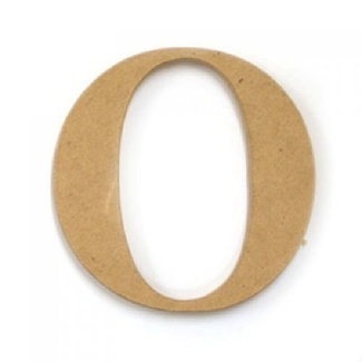 Kaisercraft Large Wooden Letter - O  (Approx 9 x 10cm)