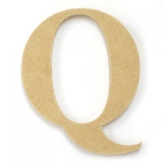 Kaisercraft Large Wooden Letter - Q  (Approx 9 x 10cm)
