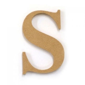 Kaisercraft Large Wooden Letter - S  (Approx 9 x 10cm)