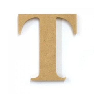 Kaisercraft Large Wooden Letter - T  (Approx 9 x 10cm)