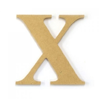 Kaisercraft Large Wooden Letter - X  (Approx 9 x 10cm)