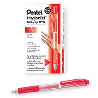 Pentel Hybrid Gel Pen 1mm - Red
