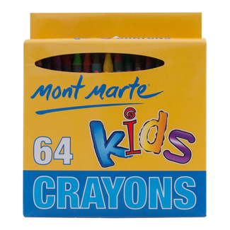 Mont Marte Kids Colour Crayons 64 Piece