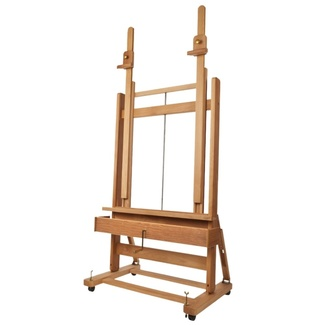 Mabef M02 Double Mast Easel With Crank & Storage