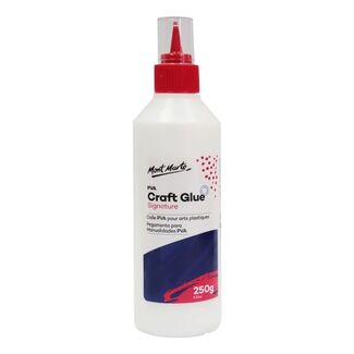 Mont Marte Adhesive - PVA Craft Glue 250g Fine Tip Applicator