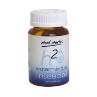Mont Marte H2O Water Mixable Linseed Oil 125ml