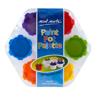 Mont Marte Kids - Paint Pot Palette w/ 7 Lift Out Pots