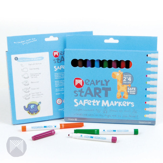 Micador Early Start Super Washable Safety Markers Pk 10