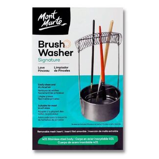 Mont Marte Brush Washer Stainless Steel in G/Box