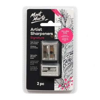 Mont Marte Artists Zinc Alloy Sharpener Set 2pc