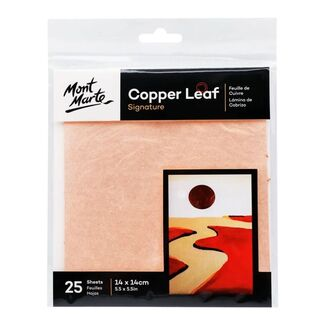 Mont Marte Copper Leaf 14 x 14cm 25 Sheet