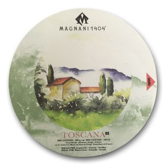 Magnani 1404 Watercolour Round Block - Rough - 16cm 300gsm 20 Sheet