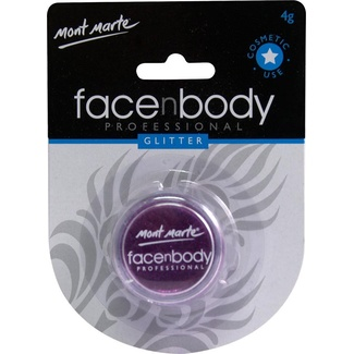 Mont Marte Face n Body Glitter 4g - Purple