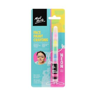 Mont Marte Kids Face Painting Crayons - Neon