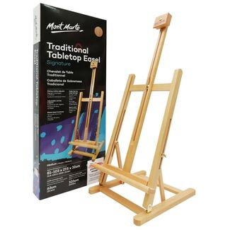 Mont Marte Desk Easel - Medium Traditional Style Beech Wood
