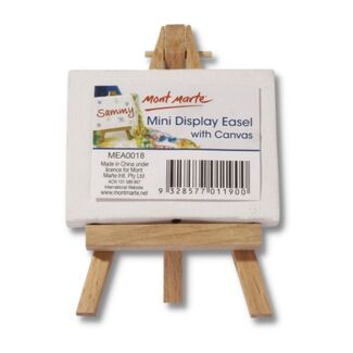 Mont Marte Mini Display Easel with Canvas 6 x 8cm