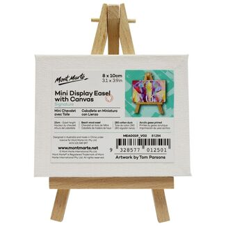 Mont Marte Mini Display Easel with Canvas 8 x 10cm
