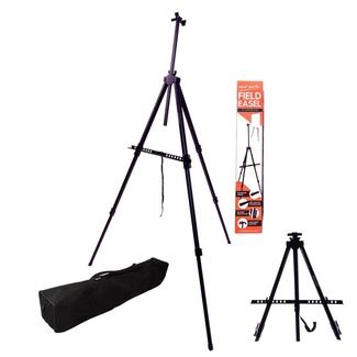 Mont Marte Tripod Easel - Portable Aluminium Field Easel Telescopic Legs w/Carry Bag  Black