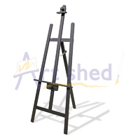 Mont Marte Rear Support A Frame Easel - Black