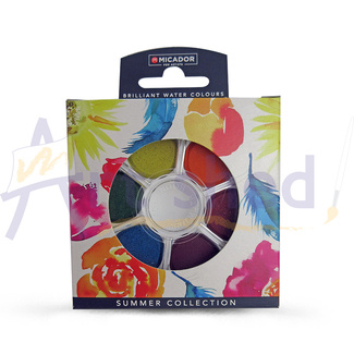 Micador Koh-I-Noor Watercolour Disc Set - Summer 6pc