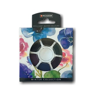 Micador Koh-I-Noor Watercolour Disc Set - Winter 6pc