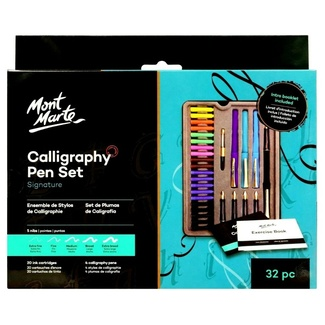 Mont Marte Calligraphy Set - Metal Tin 32pc
