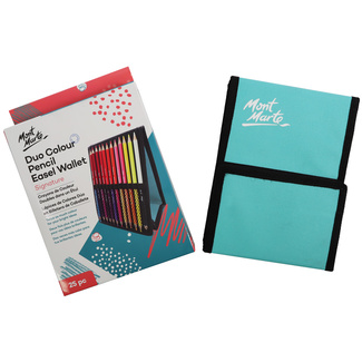 *Mont Marte Signature Duo Colour Pencil & Easel Wallet Set -  25pc